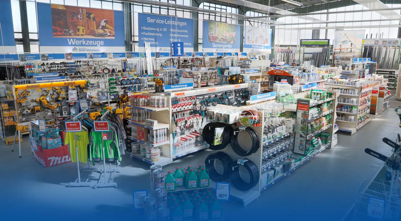Baufachmarkt im Bauzentrum Mittenwalde