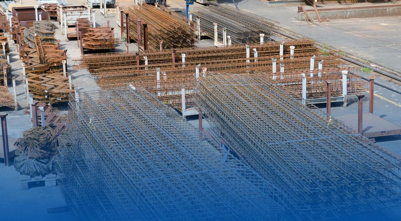 Stahlsortiment im Bauzentrum Mittenwalde