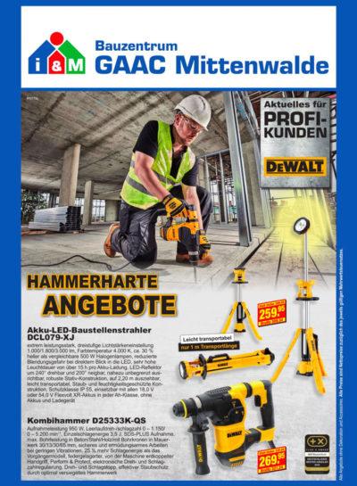 Hammerharte Angebote DeWalt