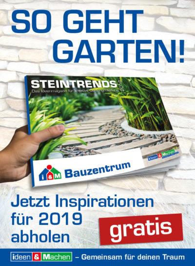 STEINTrends 2019: aktuelles Ideenmagazin für die kreative Gartengestaltung