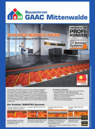 Schlüter Fußbodenheizungssystem
