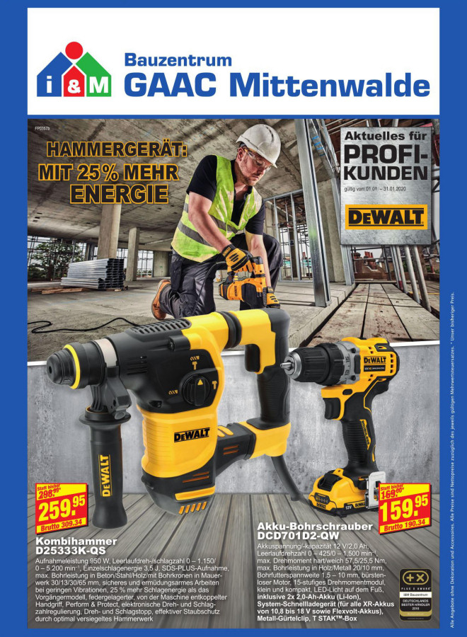 DEWALT Angebote Bauzentrum-Mittenwalde