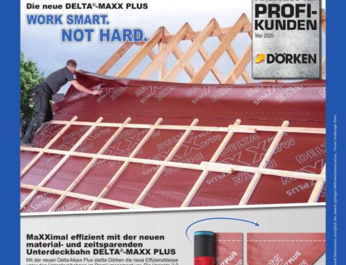 Dörken – Material, Zeit und Kosten sparen mit der neuen  DELTA®-MAXX PLUS