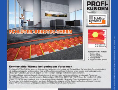 Energieeffizient & innovativ – warme Böden und Wände mit Schlüter