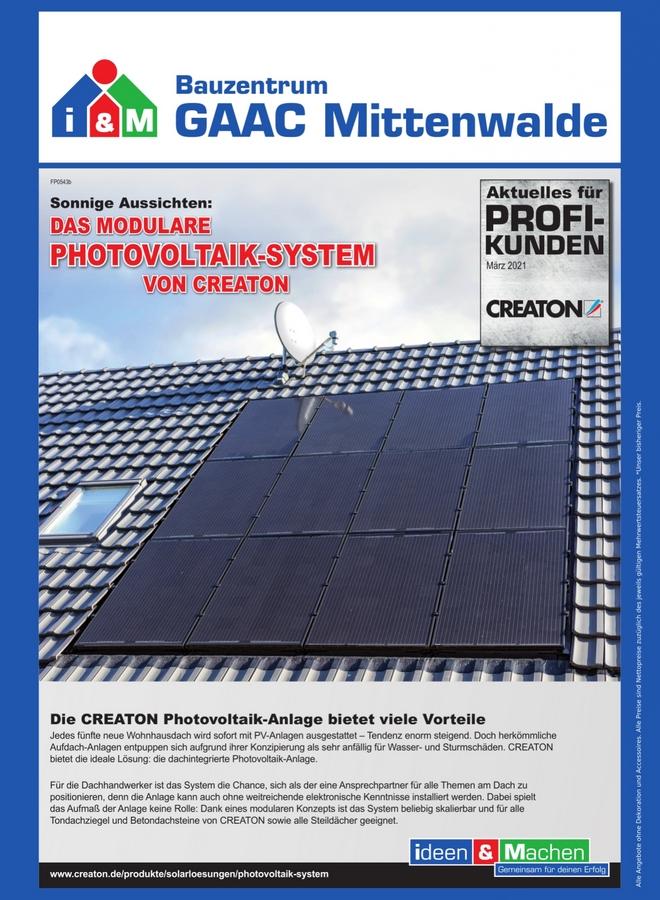 Creaton Photovoltaik-Anlage