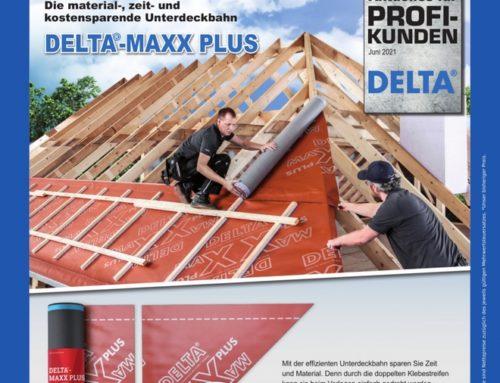 Mit der DELTA®-MAXX PLUS Material, Zeit und Kosten sparen