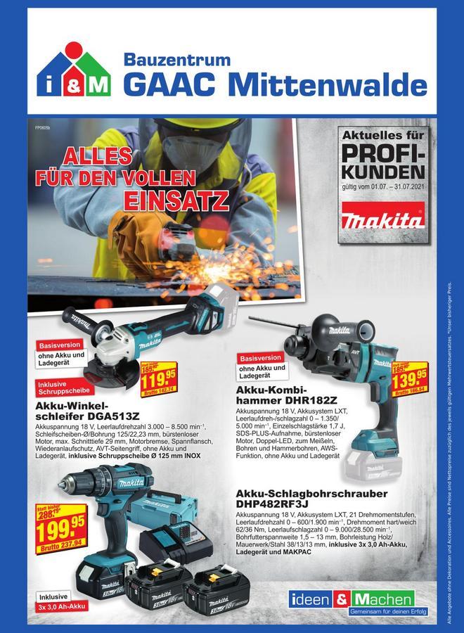Makita Angebote Bauzentrum Mittenwalde