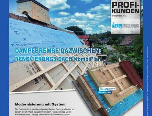 Auf der sicheren Seite bei nachträglicher Dachdämmung mit  Knauf Insulation KombiPlan