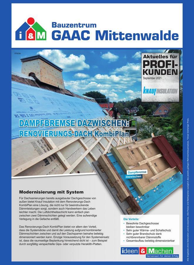 Knauf Insulation KombiPlan Dachdämmung